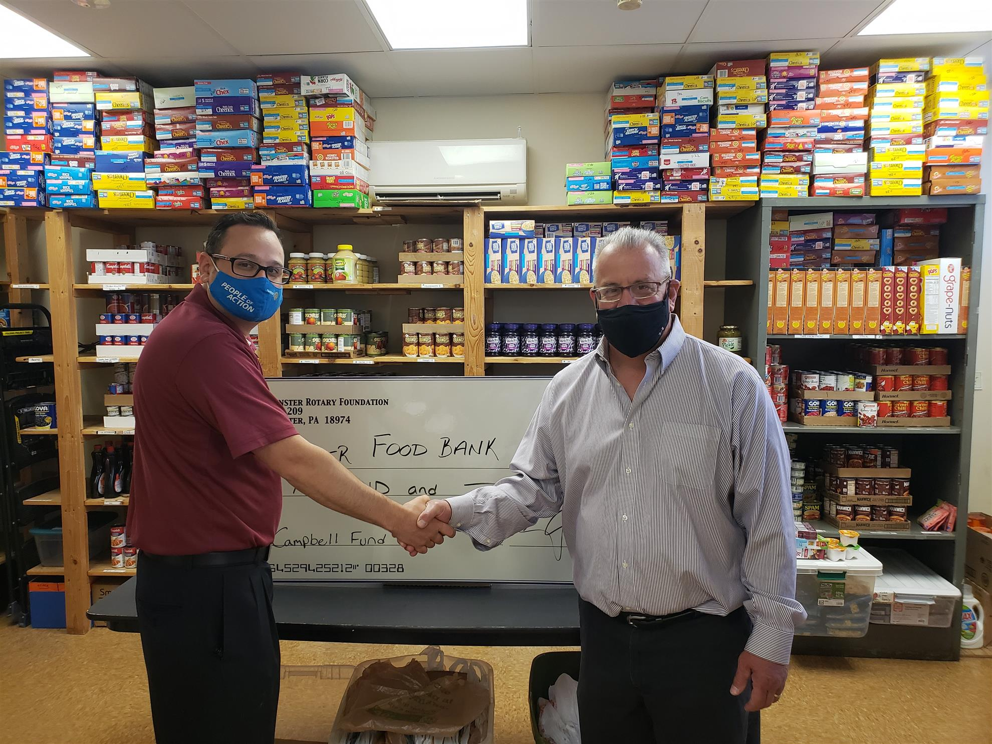 Donation to Warminster Food Bank