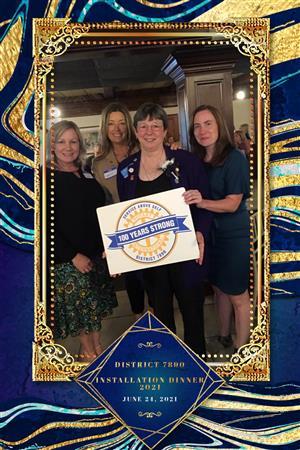Kristi, Sandi, Michelle, April at 2021-2022 induction dinner
