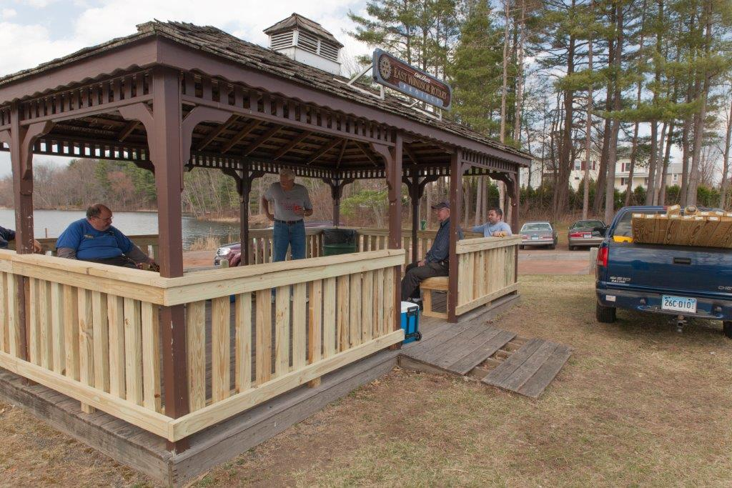 Broad Brook Pond Gazebo Repair | Rotary Club of East Windsor