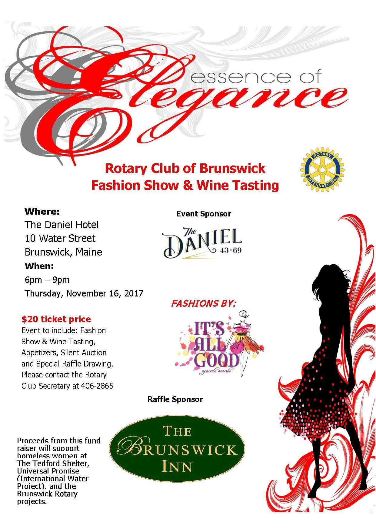 Rotary Club of Brunswick Fashion Show & Wine Tasting