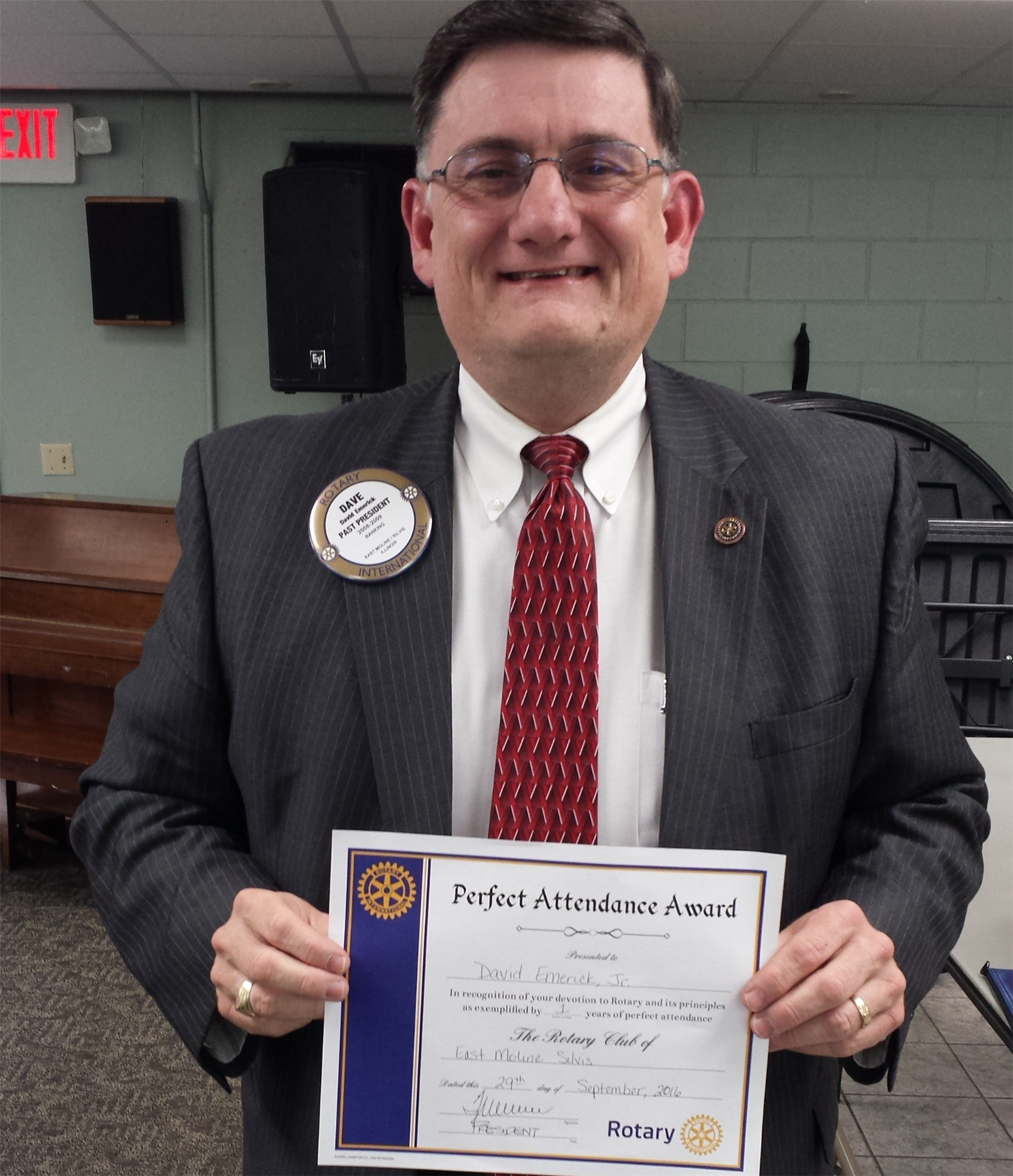 home page rotary club of east moline silvis congratulations to paul jones left who has had 53 years of consecutive perfect attendance he has accomplished this by ing other rotary clubs around
