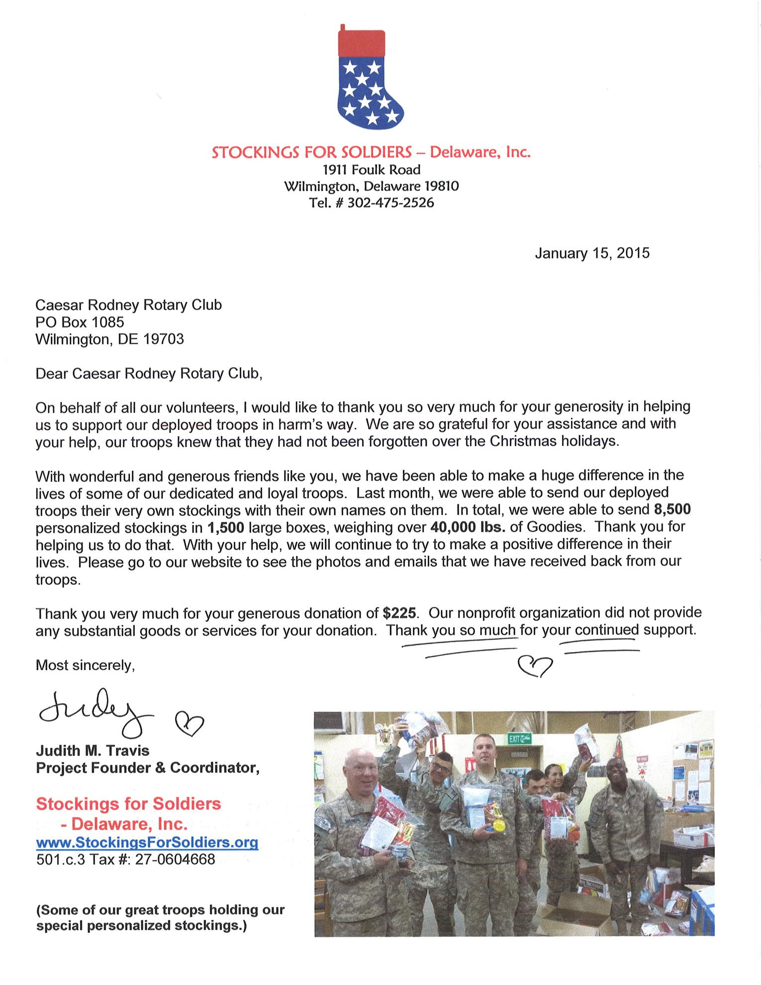 3483e9fea63 Stockings for Soldiers 2014