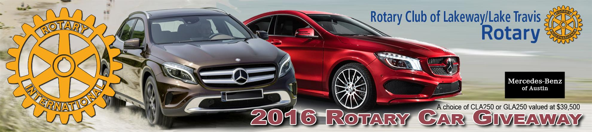 Home page rotary club of lakeway lake travis for Mercedes benz raffle 2017