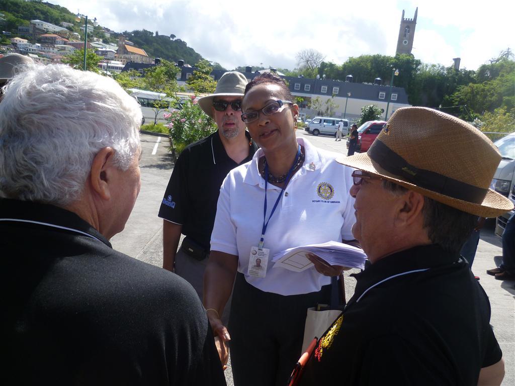 President Julia welcoming guests