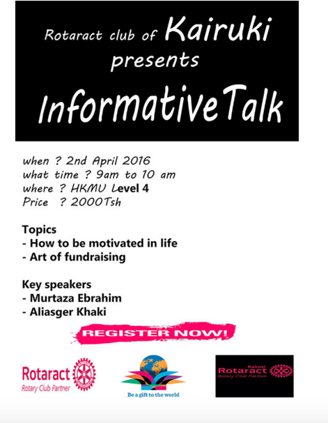 informative talk