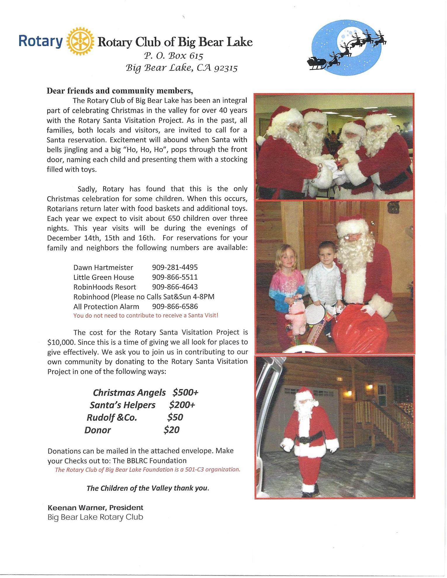 Thanksgiving and Christmas   Rotary Club of Big Bear Lake