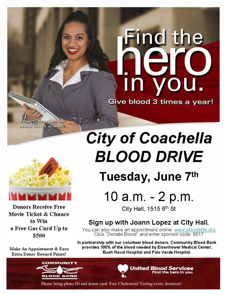 City of Coachella Blood Drive 06-07-11