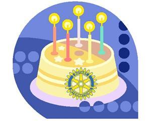 Rotary Birthday Cake
