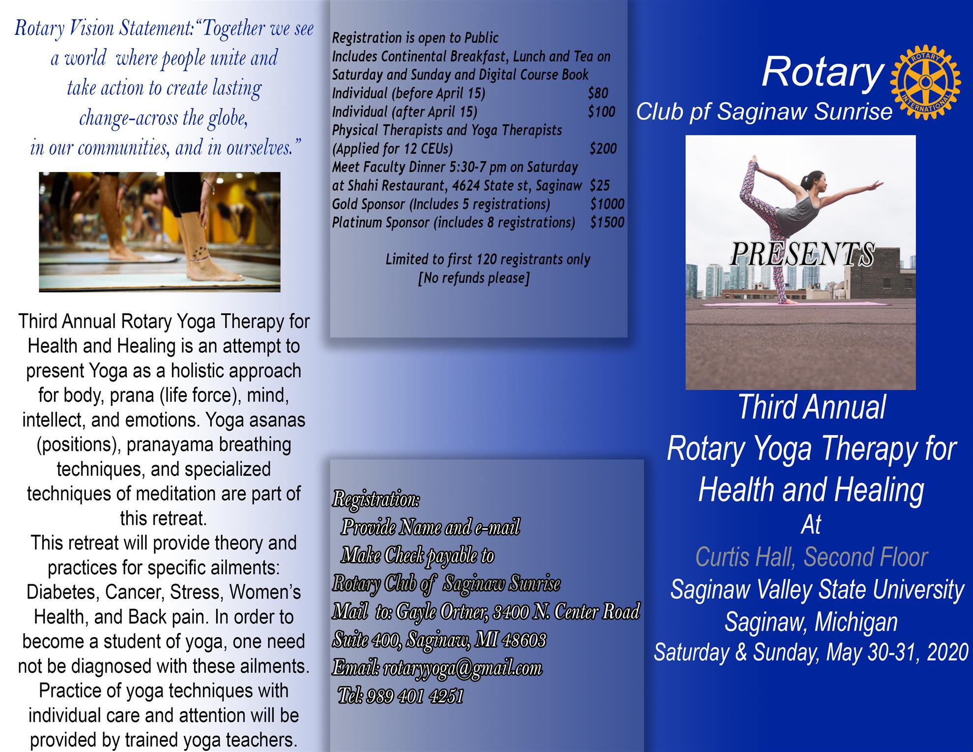 Yoga Retreat Rotary Club Of Saginaw Sunrise