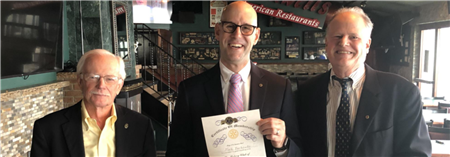 Mark Berkowitz Joins Rotary