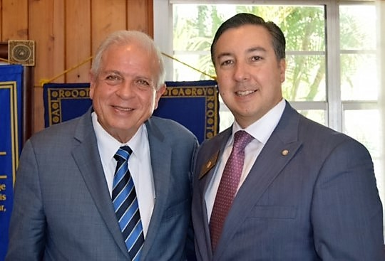 President Oliver Ruiz with Mayor Tomas Regalado