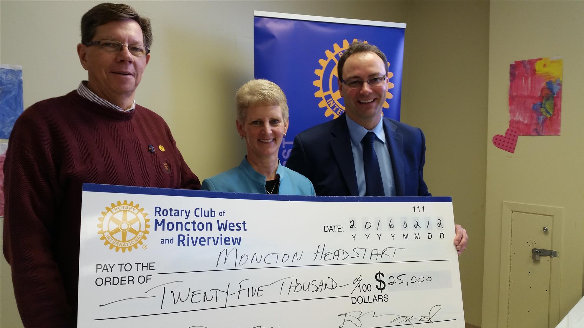 Moncton Headstart donation