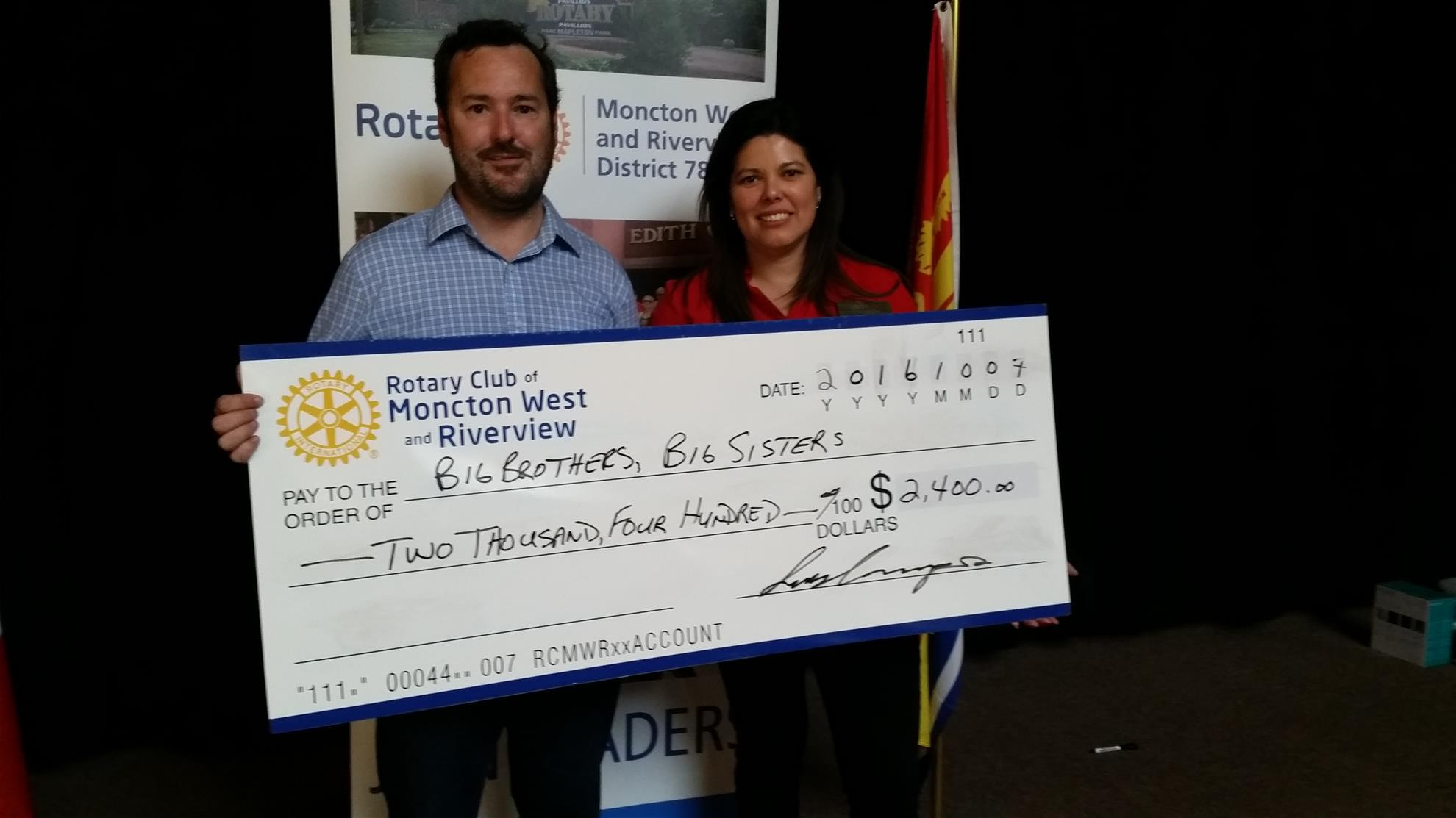 Big Brothers Big Sisters Greater Moncton support