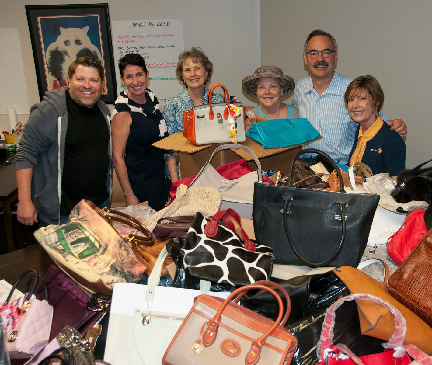 Austin Rotary Clubs Supporting Handbags for Hope