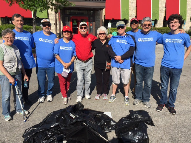 Cleaning up North Lamar and 45th Street area for Keep Austin Beautiful