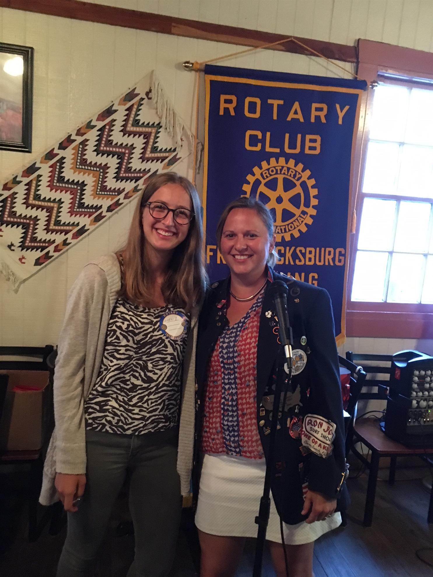 Amelie Teuschl, Rotary Exchange Student and Sarah Eckert-Meurer, Club President