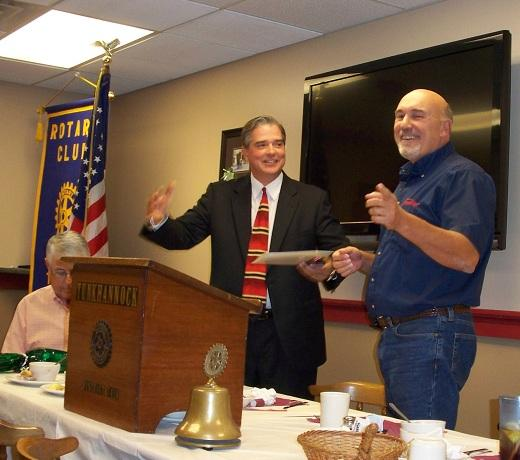 Andy Mehalshick Speaks at Sept 27 Tunkhannock Rotary Meeting