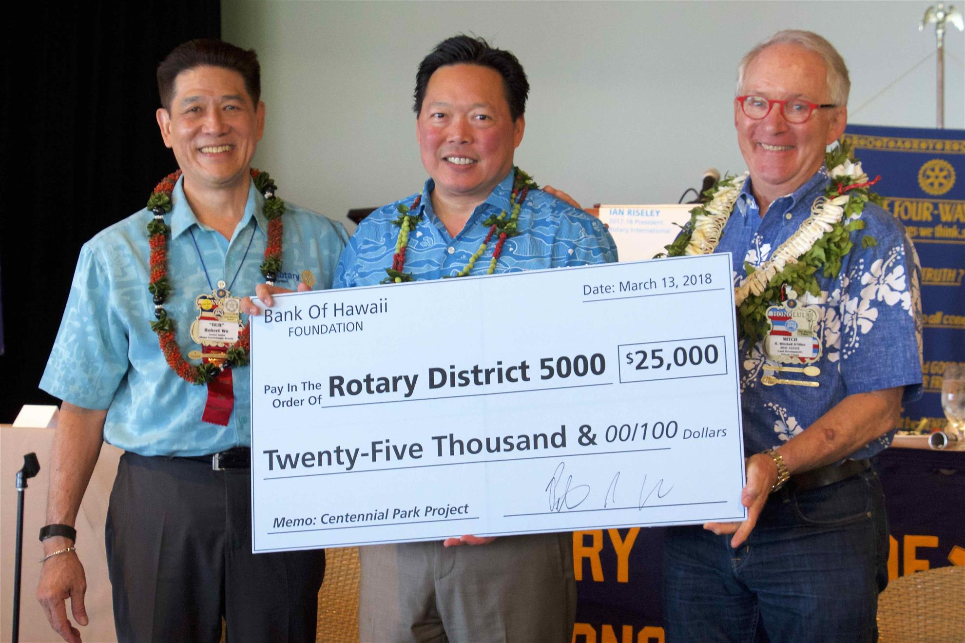 March 13 Meeting Rotary Club Of Honolulu Oahu