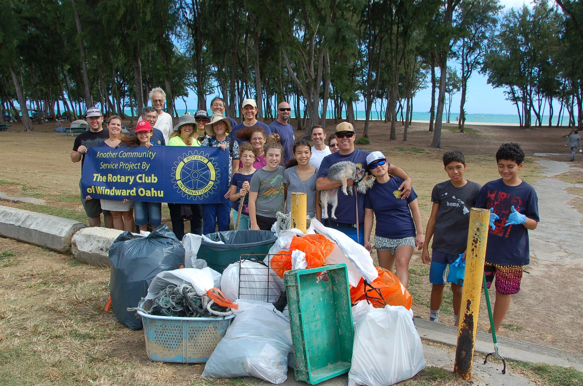 10 16 2016 Beach Cleanup Rotary Club Of Windward Oahu Sunrise Kailua
