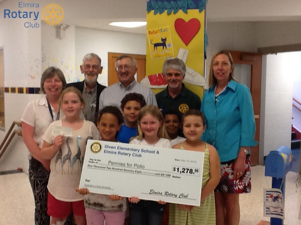 Depicted in the group picture presenting the check, attached: Second grade students - NovaLee Mathews, Danine Jones, Derek Devon, Kallie Burdick, Quantel Blandford, Amisha Holden, Jo Legare, Bill Kistler, Joe Koczan, Dick Dubois, Pam Davis-Webb
