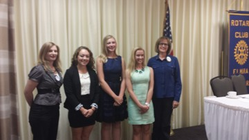 Elmira Rotary Club Youth Salute Winners, Amanada Harkness, Erin Haggerty, Gwendolyn Zwirko, Shelby Brost, Polly Smith-Blackwell