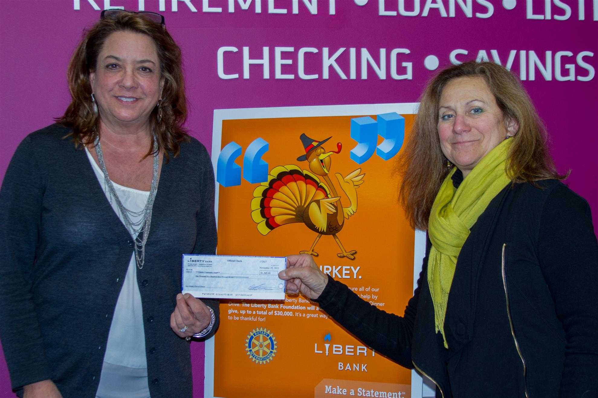 Liberty Bank Check Presentation