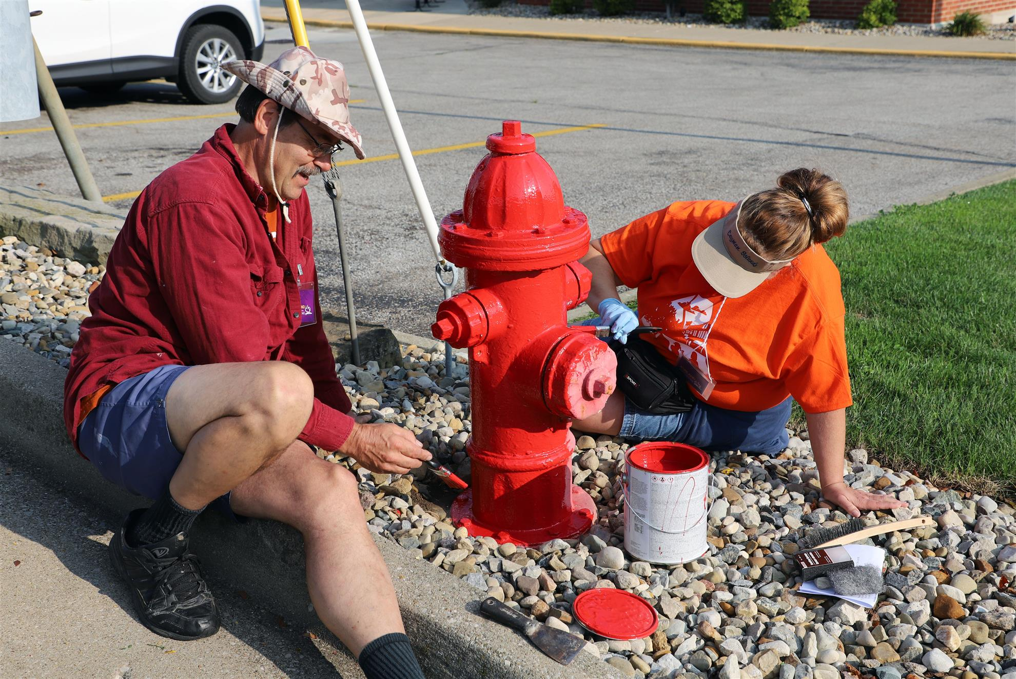 "Giving fire hydrants is just one of the many projects volunteers can pick from during the second annual ""Make Ashland Sparkle"" cleanup and beautification effort on Saturday April 24. (Submitted photo)"