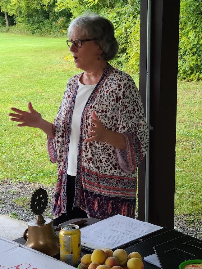 Ellen Smith speaking to HFM Rotary