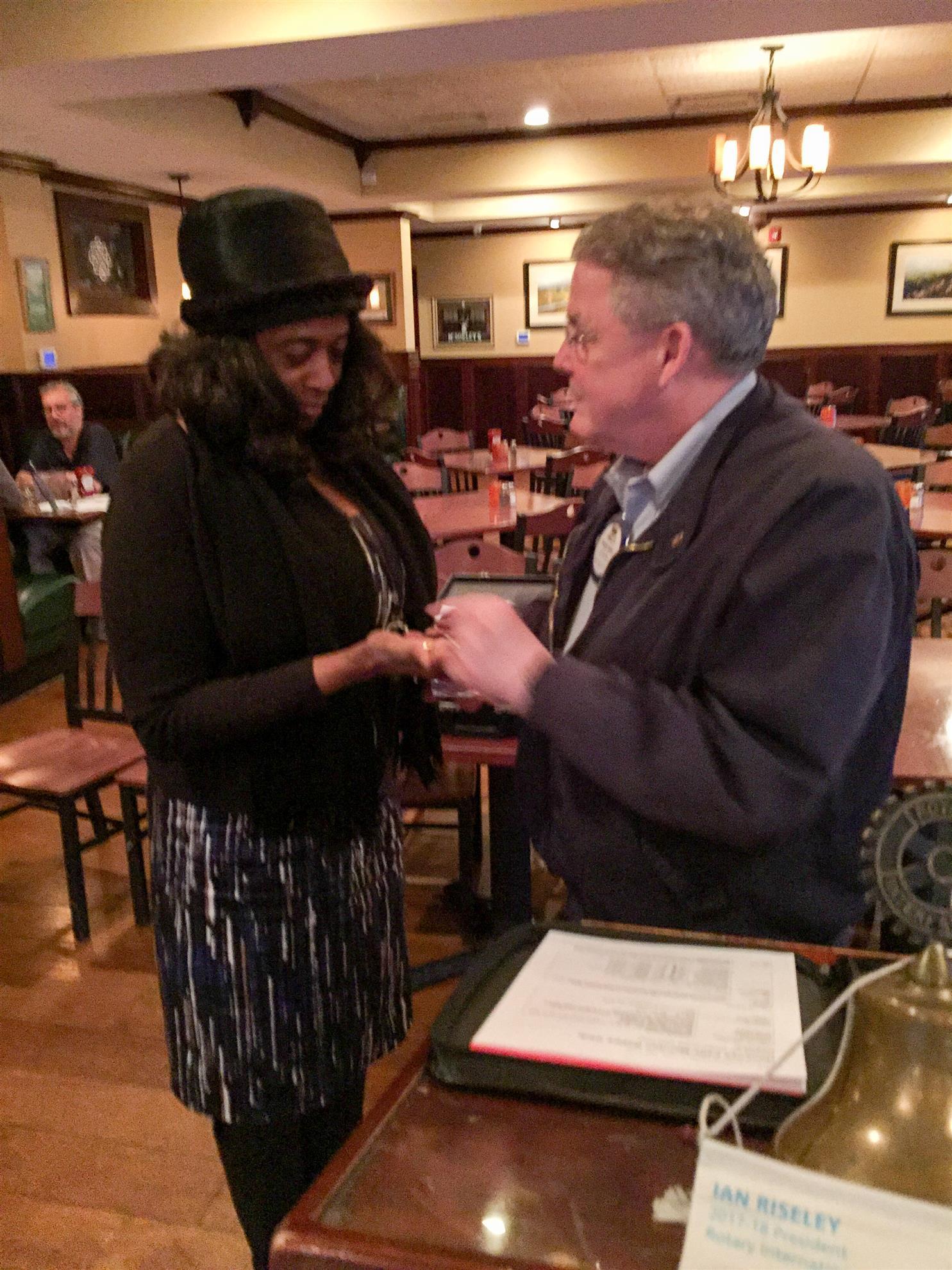 5 Year Pin to Linda Goodrum from PE Sheldon