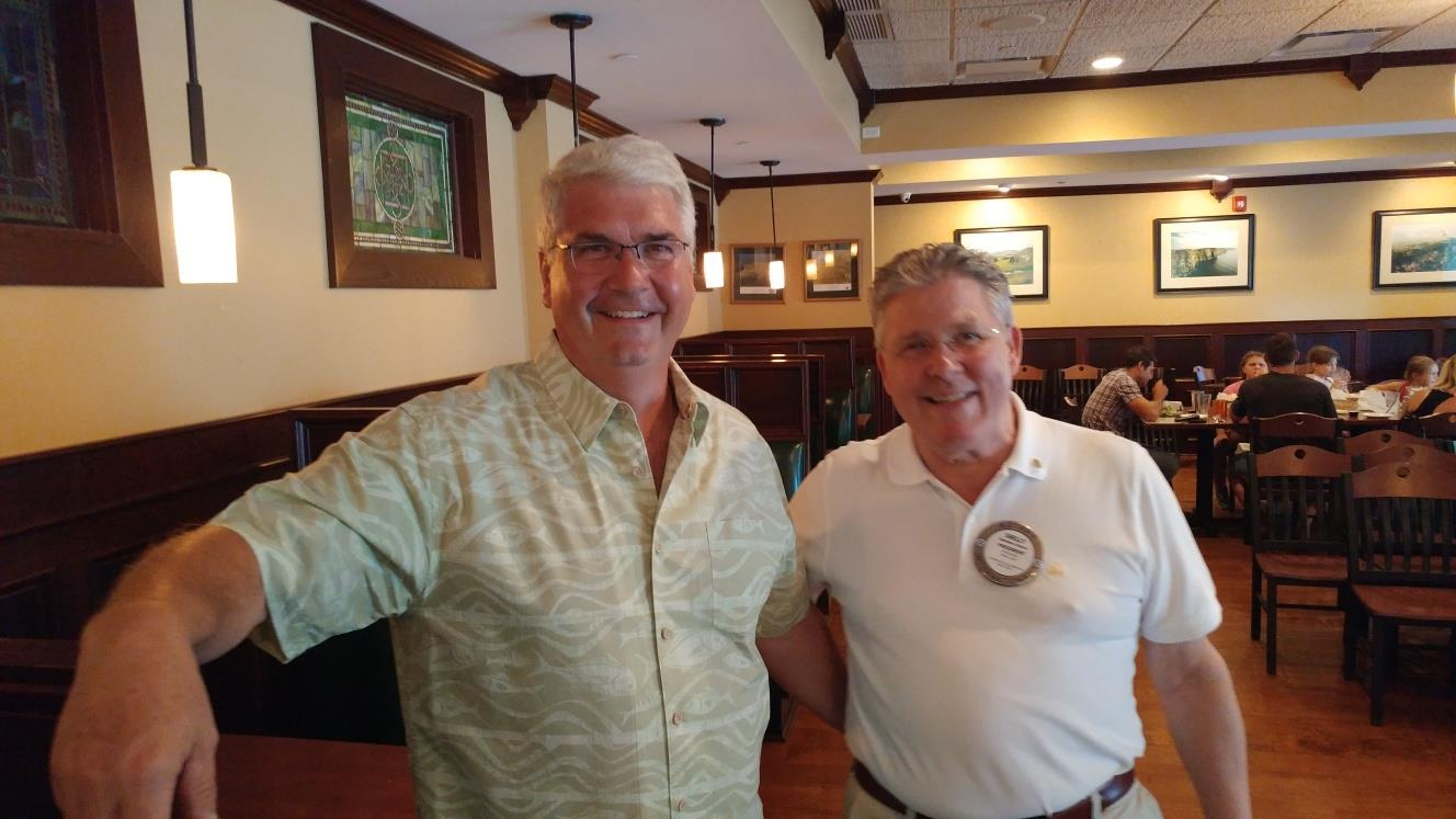 Mike Roberts with Sheldon at 10 yrs in Rotary
