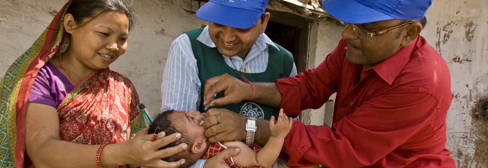 Delivering Polio Vaccine