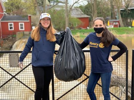 Rotarians Alyssa and Chodie