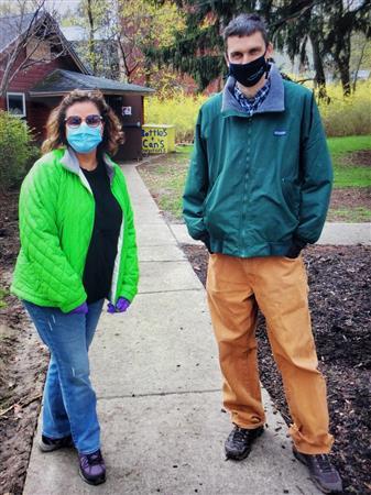 Jackie & Dan after pick up trash
