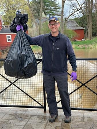 Jeff with his trash