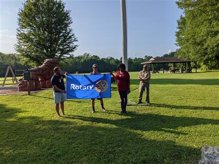 Eagle Scout -Houle- flag at Rotary Park