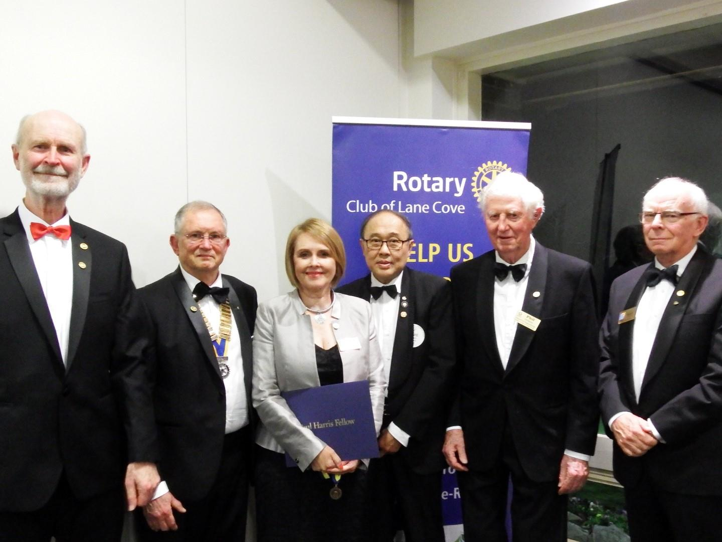 528b951bb3f PHF awards were awarded to Past President Phil Dudgeon, Past President  Roger Wescombe, Past President Andre Hariman (from the Chatswood Sunrise  Rotary Club) ...