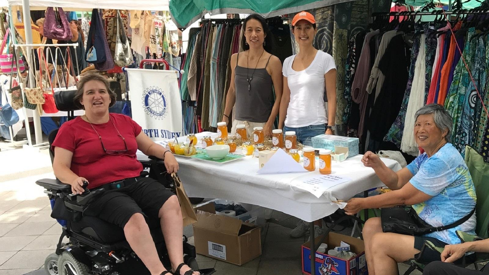Fundraising at Crows Nest Markets