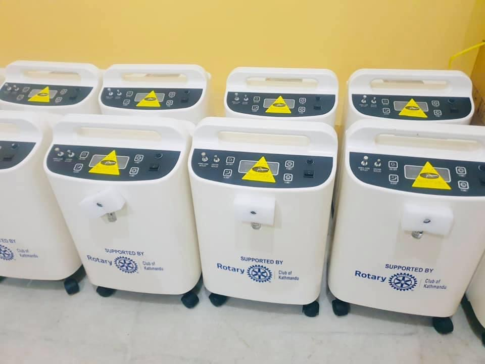 52 Oxygen Concentrators Purchased by RC of Kathmandu Using Donations from Northbridge & Partner Clubs