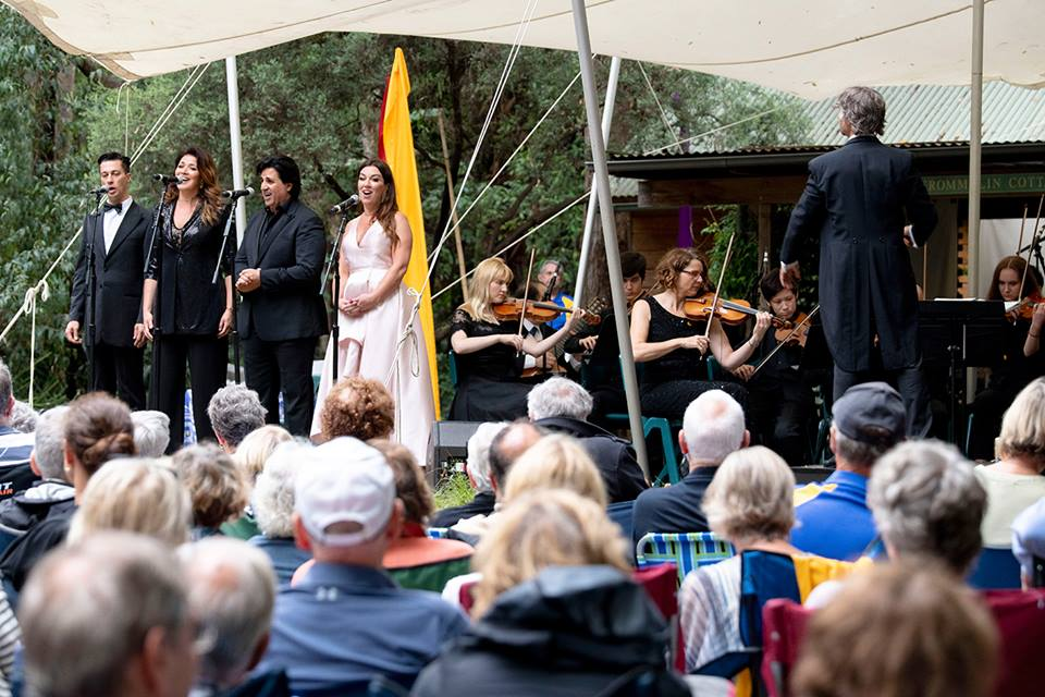 "Opera in the Arboretum 2019 - the finale ""Time to say Goodbye"". Photo: Lisa Haymes"
