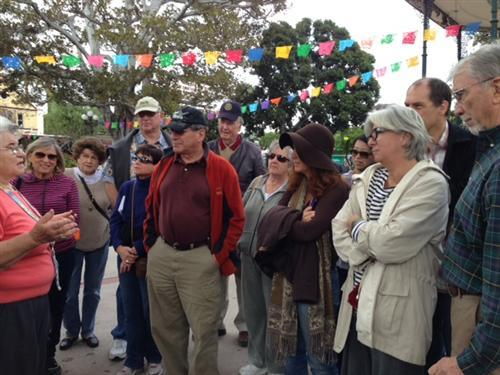 Rotary Club of Santa Monica Rotarians at Olvera Street