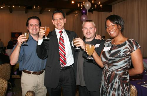 Jonathan Schwartz, Matt Williams, Matt Johson and Philicia Kennedy Flamer