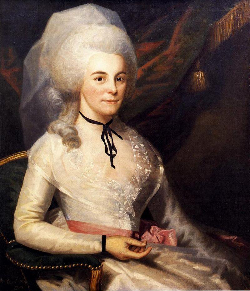 Retrato de Elizabeth Shuyler Hamilton Retrato de la señora Alexander Hamilton.  Ralph Earl, circa 1787
