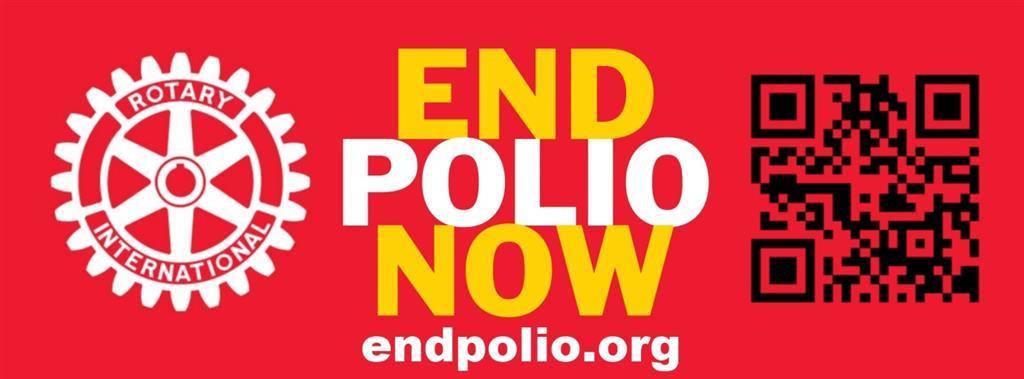 End Polio Now Car Sticker