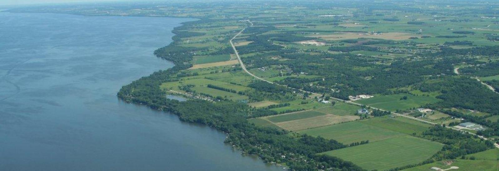 Aerial of Fond du Lac on Lake Winnebago
