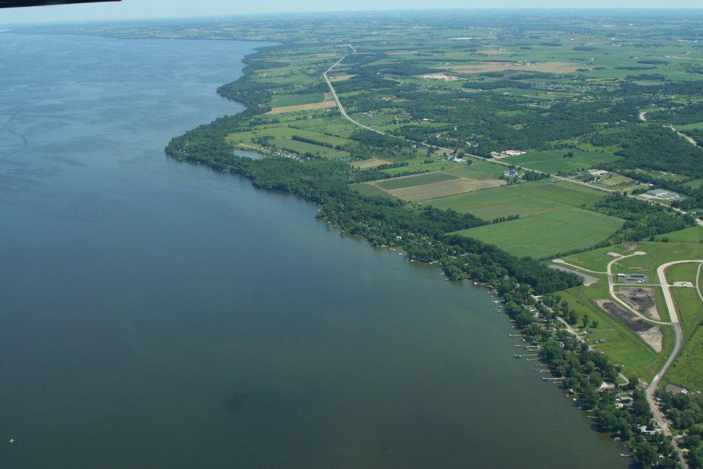 Arial of Fond du Lac on Lake Winnebago