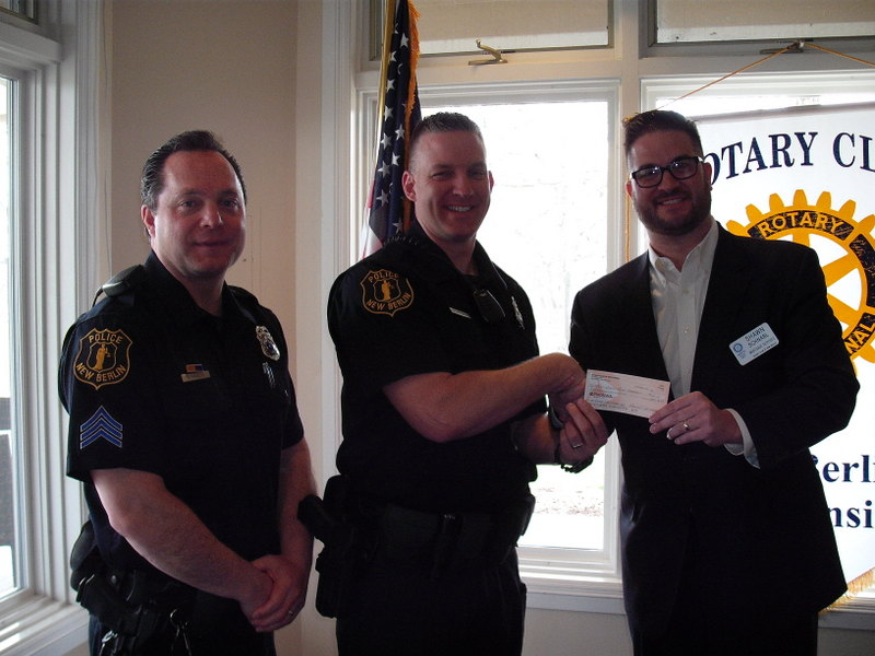 New Berlin Police Department, Office Tony Fus, Sgt. Dan Hanlon, Shawn Schnabl, New Berlin Rotary, Rotary Club of New Berlin