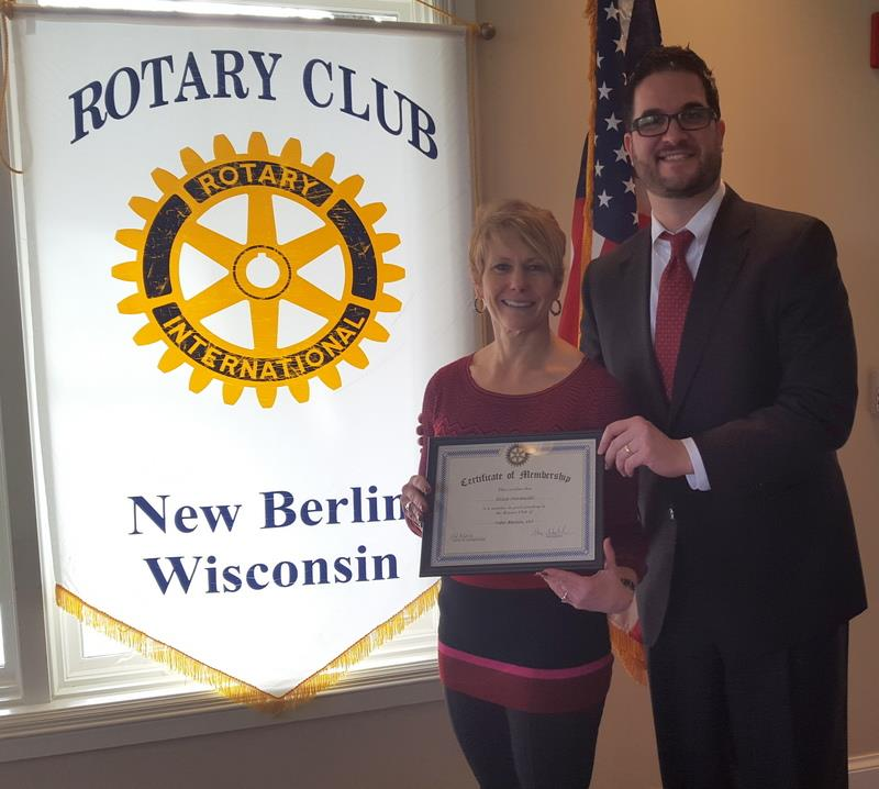 Erica Moranski, Shawn Schnabl, Rotary Club of New Berlin, New Berlin Rotary