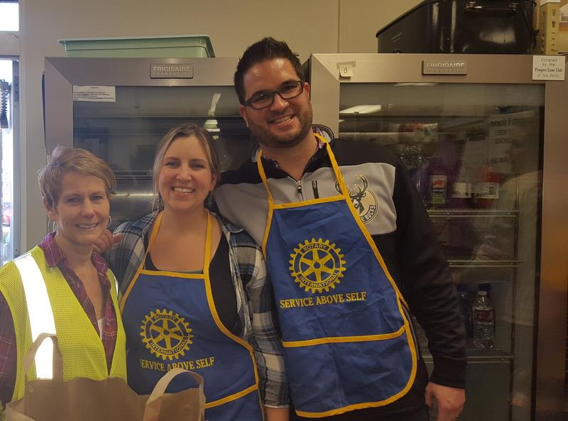 Erica Moranski, Stephanie Friemoth, Shawn Schnabl, New Berlin Food Pantry, Rotary Club of New Berlin, New Berlin Rotary