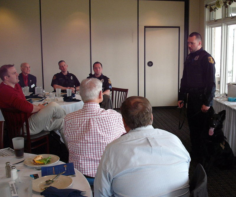 New Berlin Police Department, Officer JJ Ament, New Berlin Rotary, Rotary Club of New Berlin