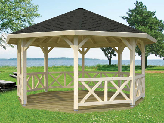 Gazebo project rotary club of applecross for Carpas de madera para jardin